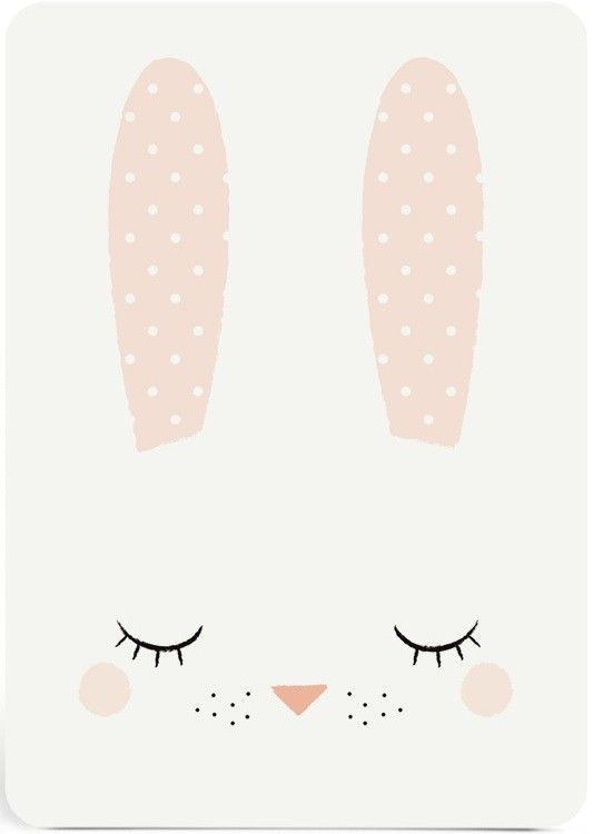 Zu Postcard Sleepy Bunny Baby Posters Cute Wallpapers Cute