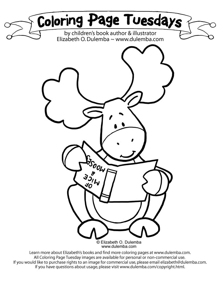 Thidwick The Big Hearted Moose Coloring Pages By Scott