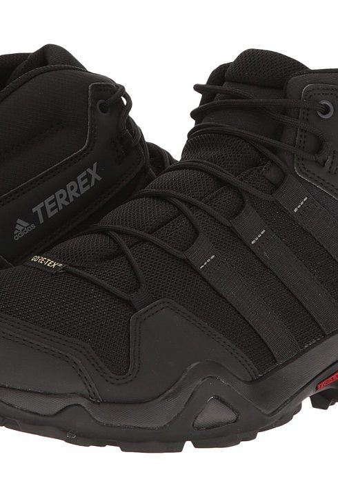 competitive price 05923 9223e adidas Outdoor Terrex AX2R Mid GTX (BlackBlackVista Grey) Mens Shoes