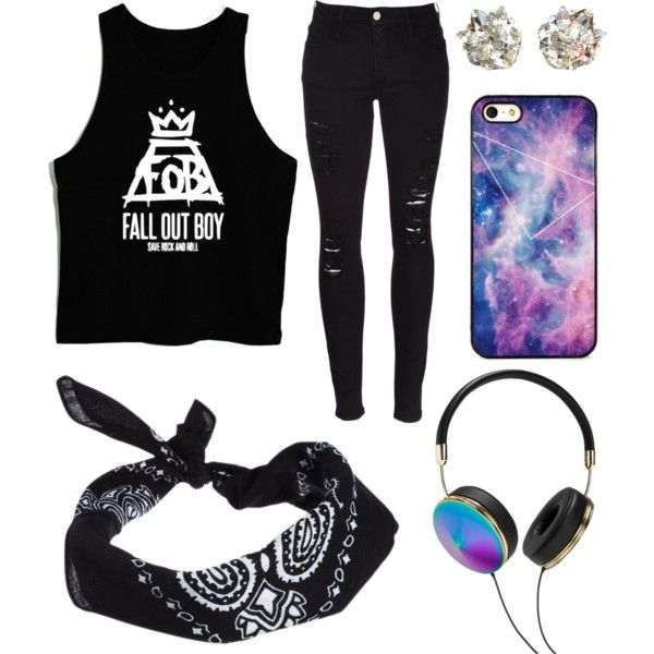 Casual Fall Out Boy by alexfreyberg on Polyvore featuring Frame Denim, April Soderstrom Jewelry, Frends, BlissfulCASE and ASOS