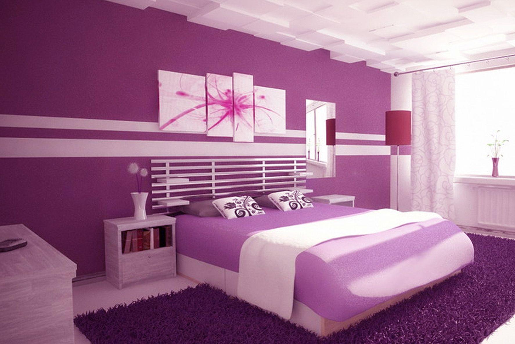 Elegant Purple Walls Bedroom Chocoaddicts This Room Has Light Shade With Bolder Bed Skirt Madchenzimmer Streichen Schlafzimmer Design Schlafzimmerfarbe