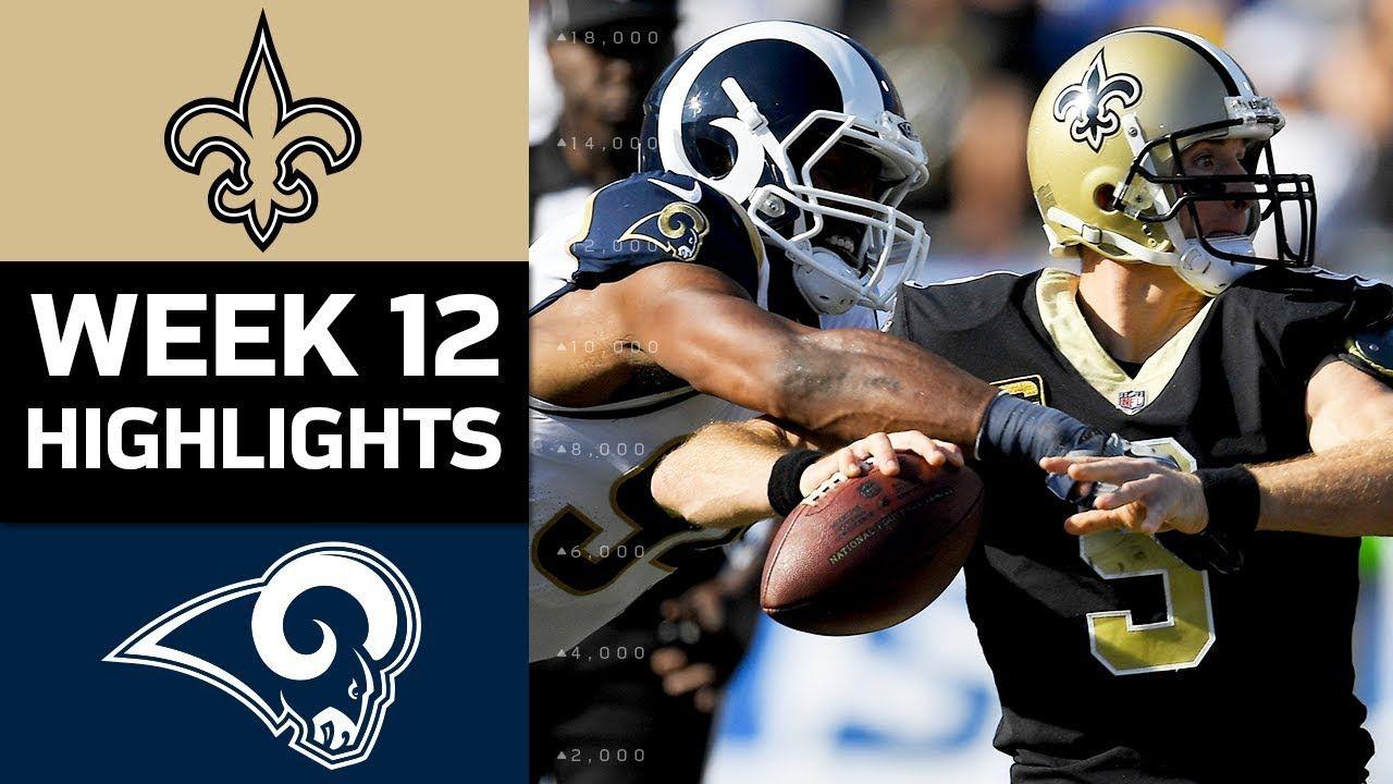 Game 12 2017 Saints Vs La Rams Home Game Highlights Rams