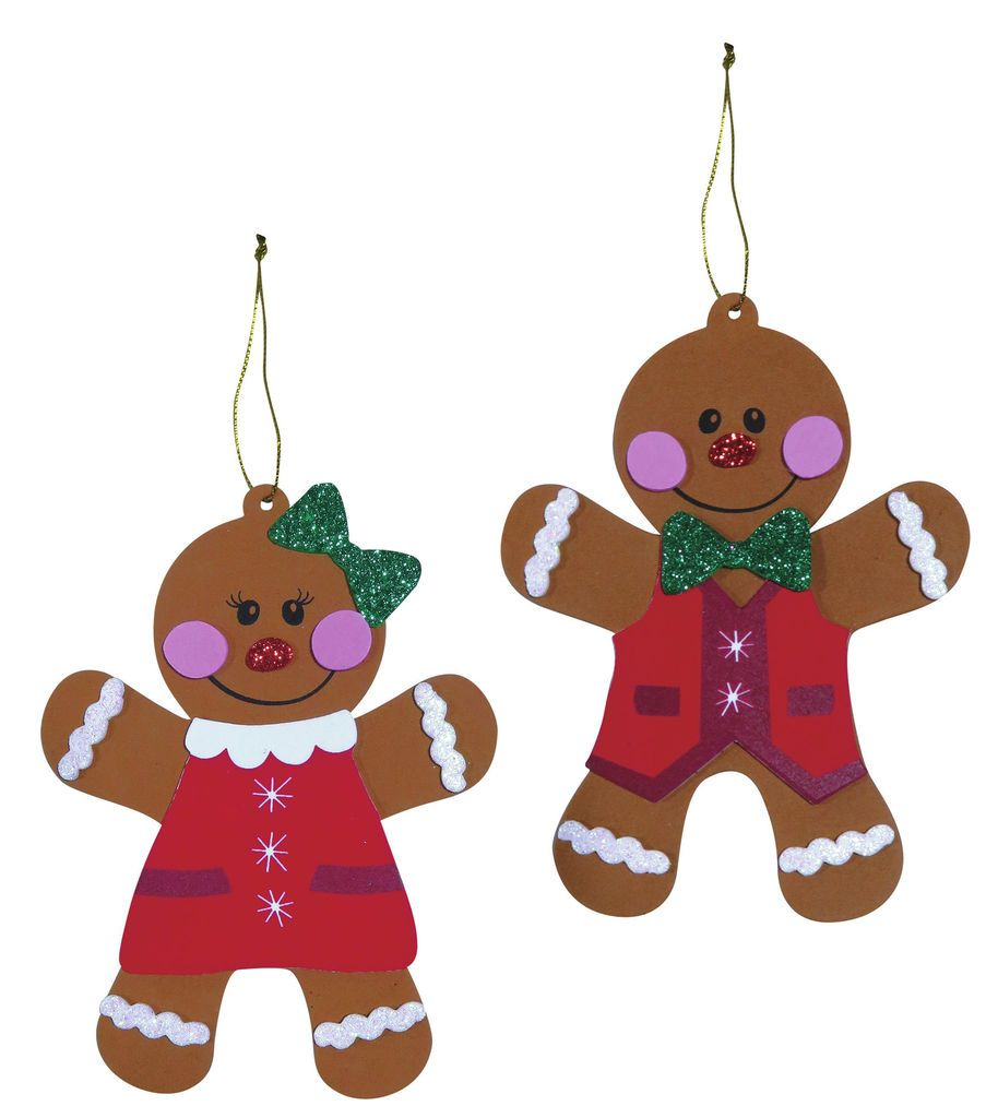 Buy the Foam Gingerbread Ornament Kit By Creatology at Michaelscom