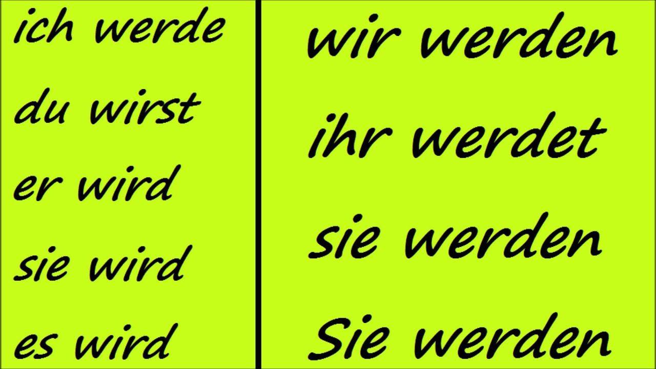 conjugation of werden