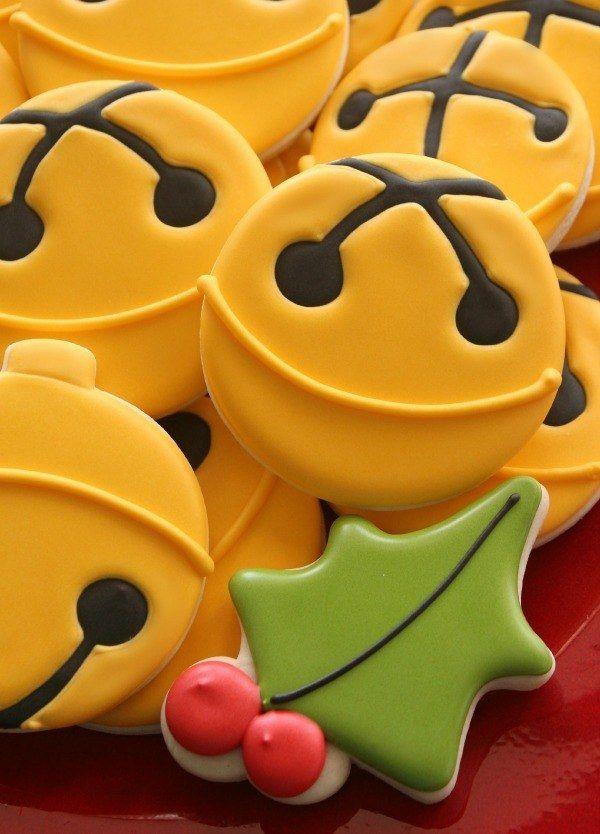 Jingle Bell Cookies Christmas Cookies Christmas Sugar Cookies