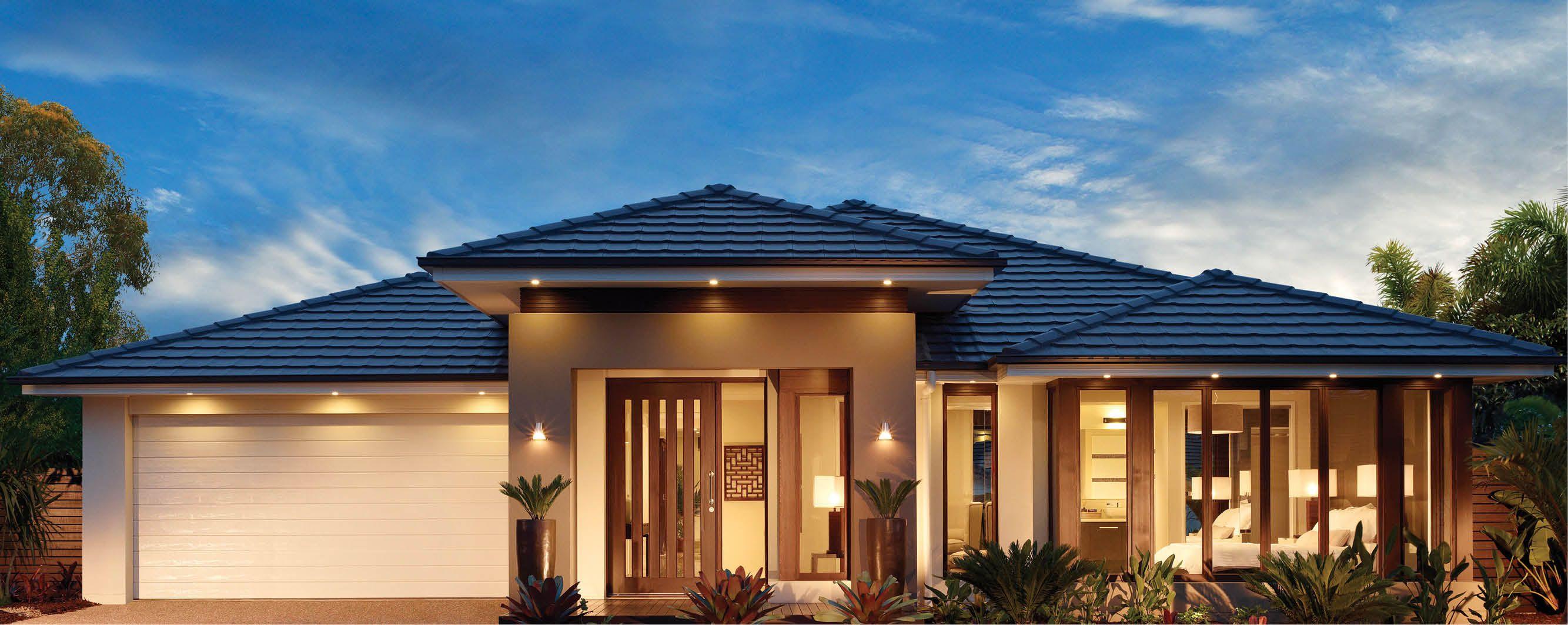 Roof Tiles Coal Modern House Facades Facade House One Storey House