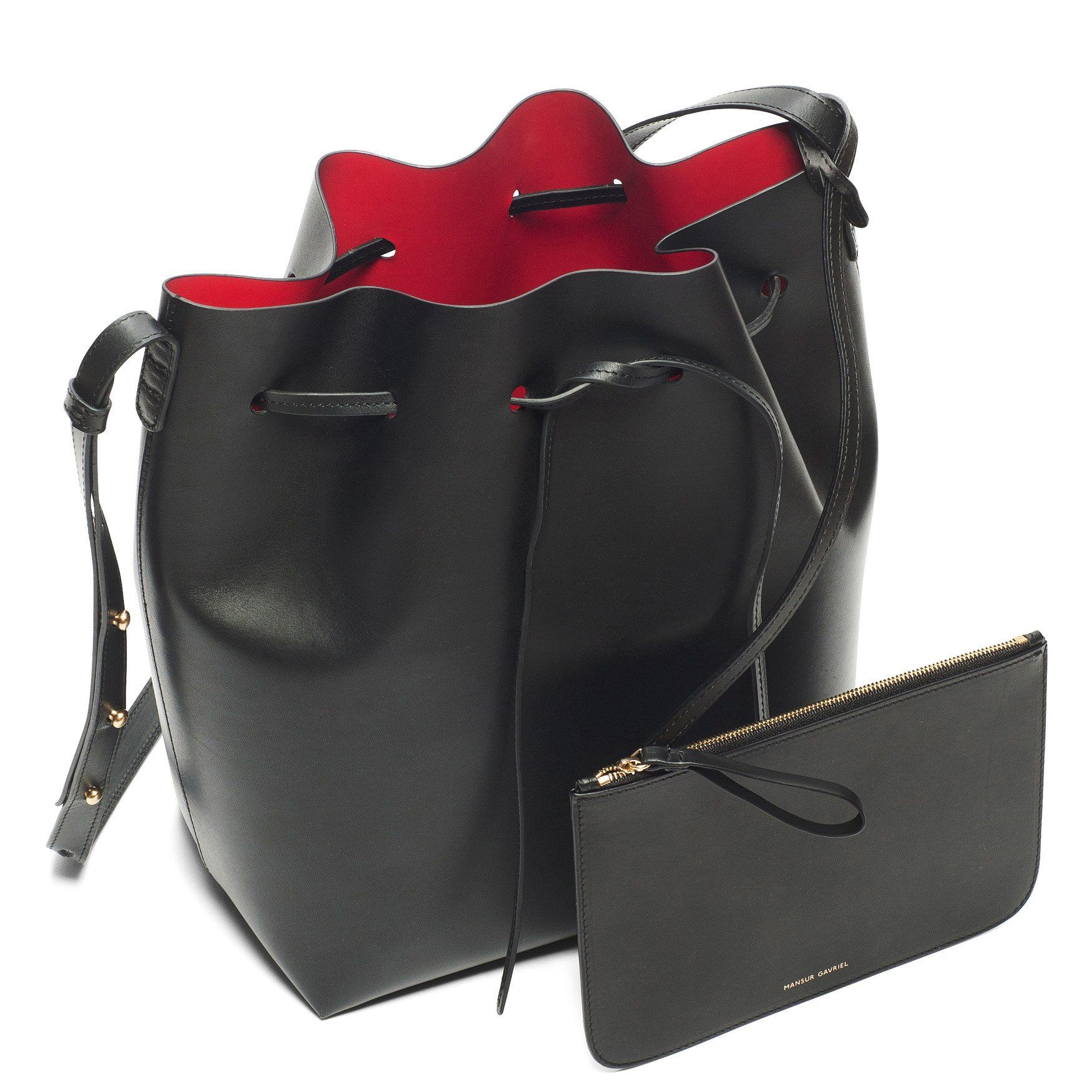 Mansur Gavriel Bucket Bag Black Flamma