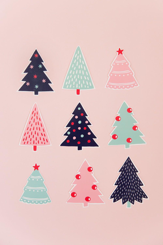 FREE PRINTABLE CHRISTMAS TREE GIFT TAGS #christmaswallpaperiphone