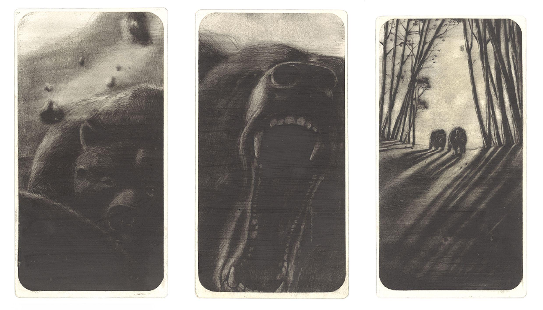 Rebecca Dautremer - Illustration - Une Bible - Trois ours.
