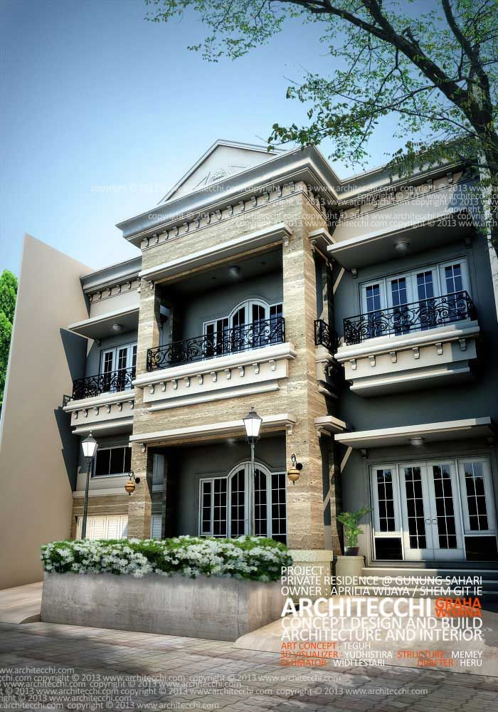 Desain Rumah Neo Classic Concept View 2 Neoclassical Architecture House Styles Porch Supports