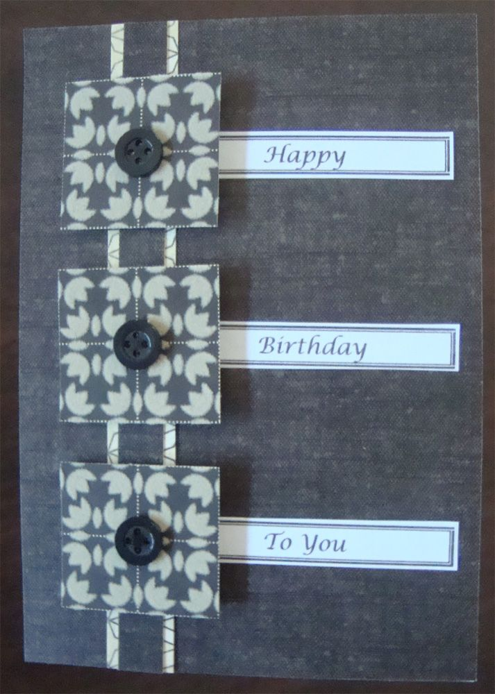 Attractive Card Making Ideas For Men Part - 2: Simple Card Making Ideas For Men