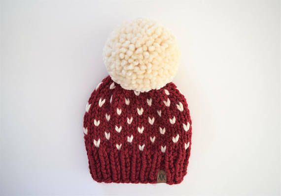 Fair Isle Hat Pattern // Hat Knitting Pattern // Little Hearts ...