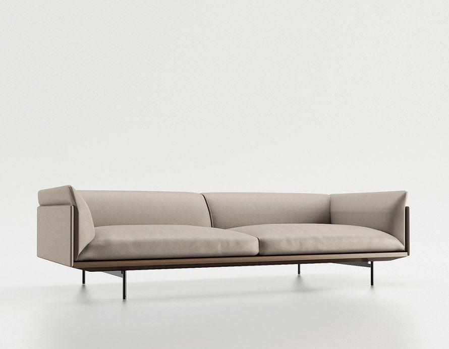Beau Canape Aux Lignes Epurees Sofa Design Fabric Sofa Design Lounge Sofa