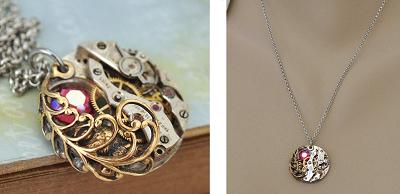 Timeless Love Steampunk Necklace