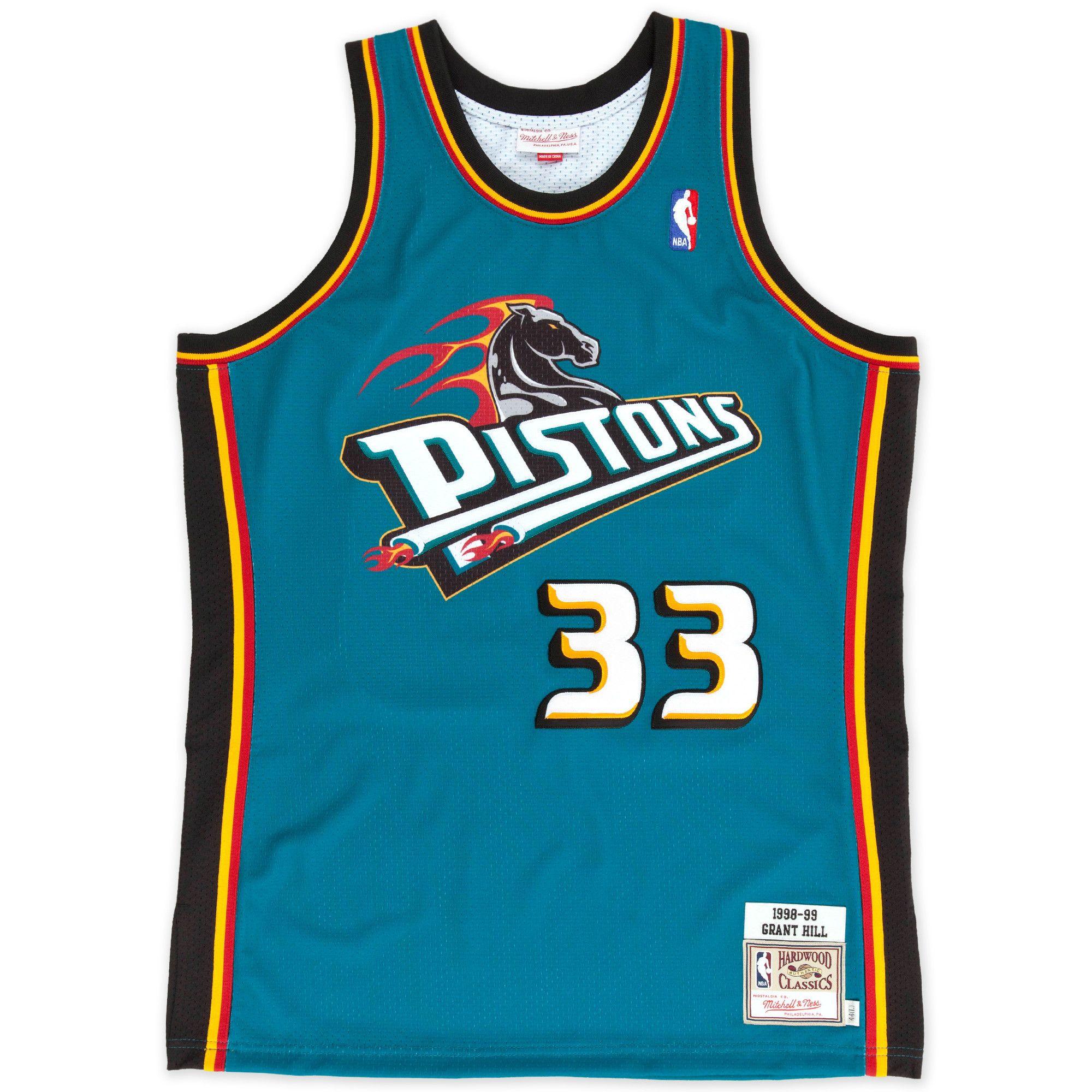 Grant Hill 1998 99 Authentic Jersey Detroit Pistons Mitchell Ness Nostalgia Co Detroit Pistons Nba Jersey Jersey