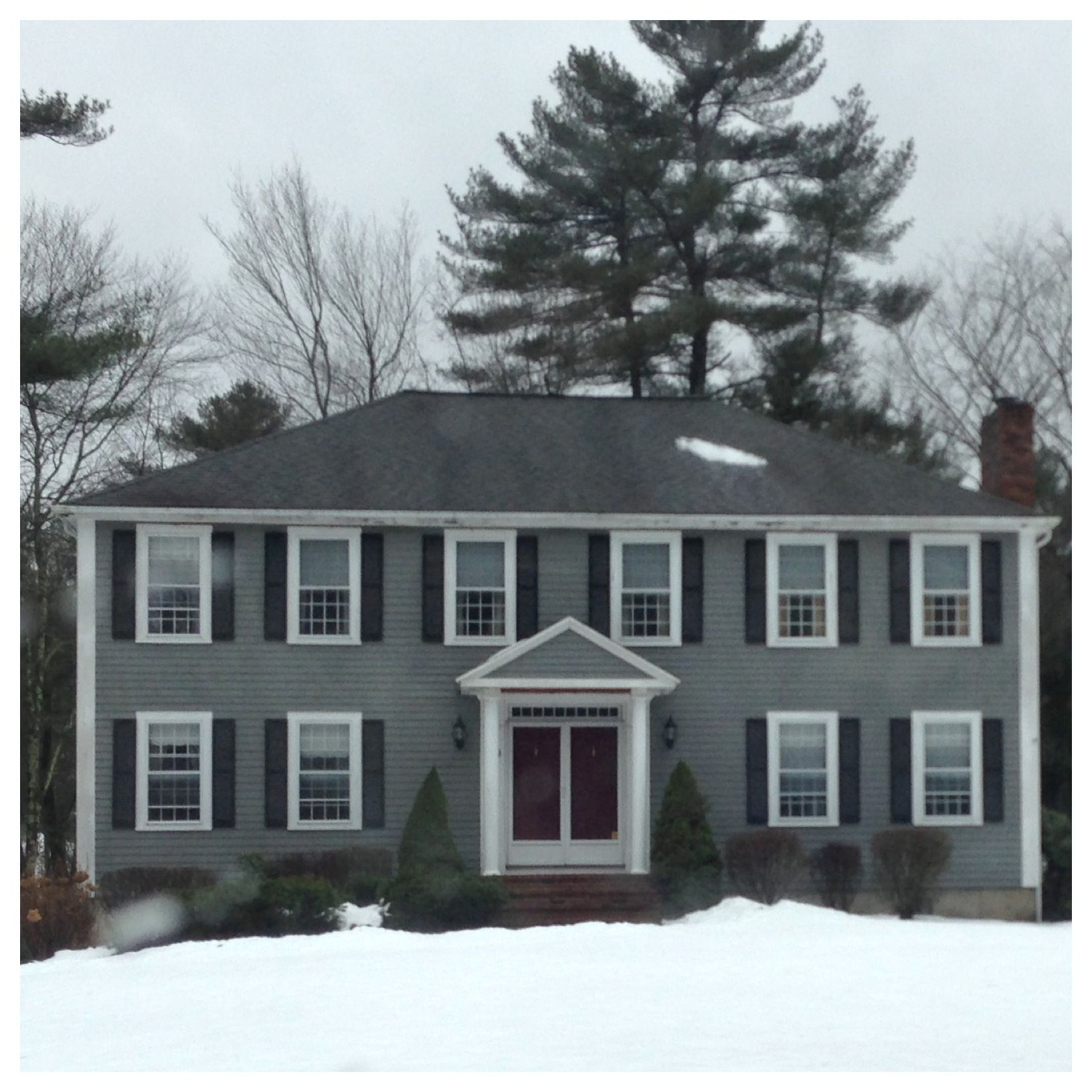 Colonial Home New England Paint Color Ideas Center Entrance