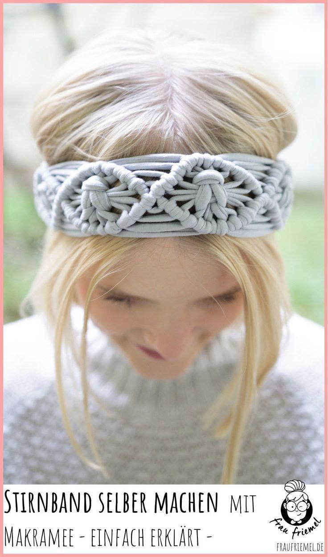 Einfache Schritt Für Schritt Anleitung Für Makramee Haarband Für Den Herbst