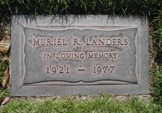 """Muriel Landers - American stage, motion picture, and television actress of the 1950s, 60s, and 70s. Fondly remembered for her sensitive portrayal of 'Marge Moore' in a 1962 episode of the classic TV series 'The Twilight Zone' titled """"A Piano In the House,"""" which also starred Joan Hackett and Barry Morse."""