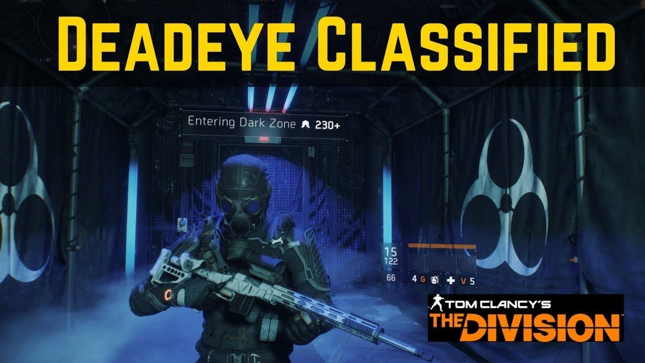 The Division Deadeye Classified (Full Damage Build) PVP and