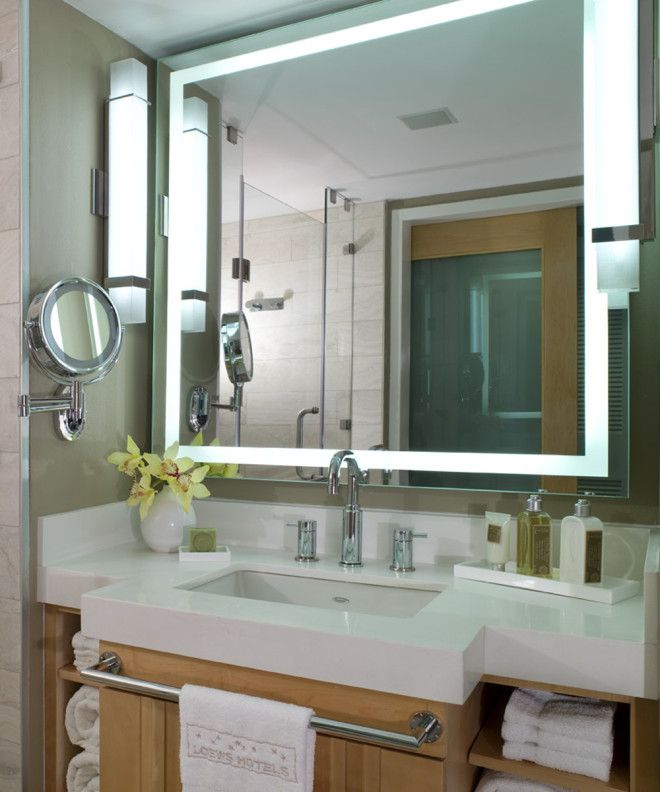 Integrity Led Lighted Mirror At Loews Hotel Bathroom Mirror