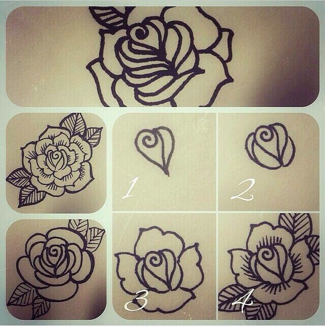 Henna Step By Step Henna Tattoo Designs Flower Henna Henna Drawings