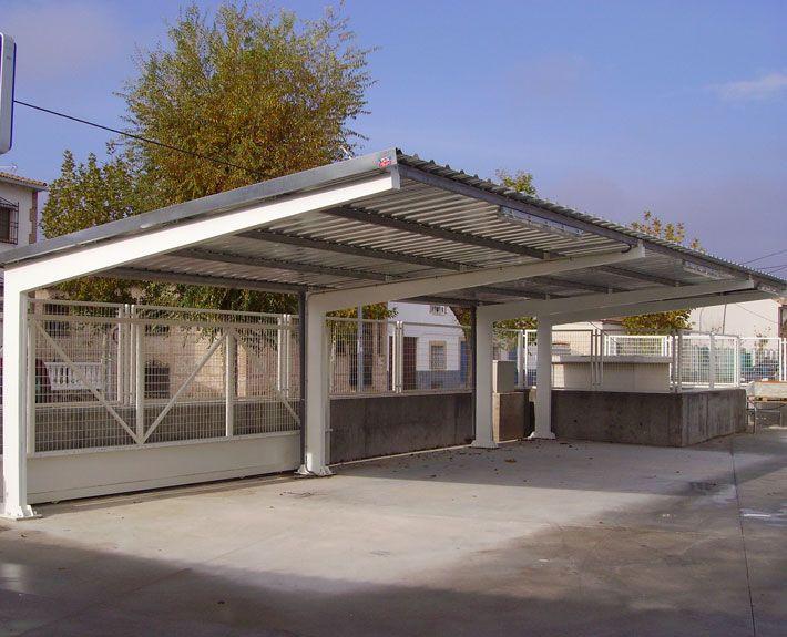 Marquesinas de aparcamiento y techos de parking para coches pinterest aparcamiento cochera - Garajes para coches ...