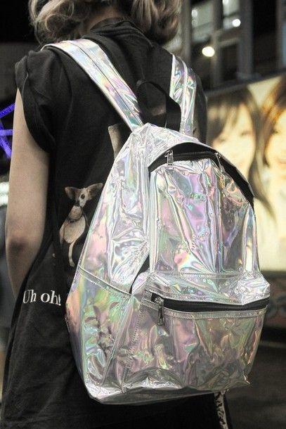 hologram+grunge+tumblr   bag bagpack hipster indie boho back to school soft  grunge holographic . 9053e9c36b
