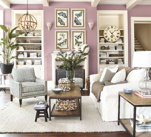Radiant Orchid Home Decor: Easy Home Makeover Ideas - Spring Edition