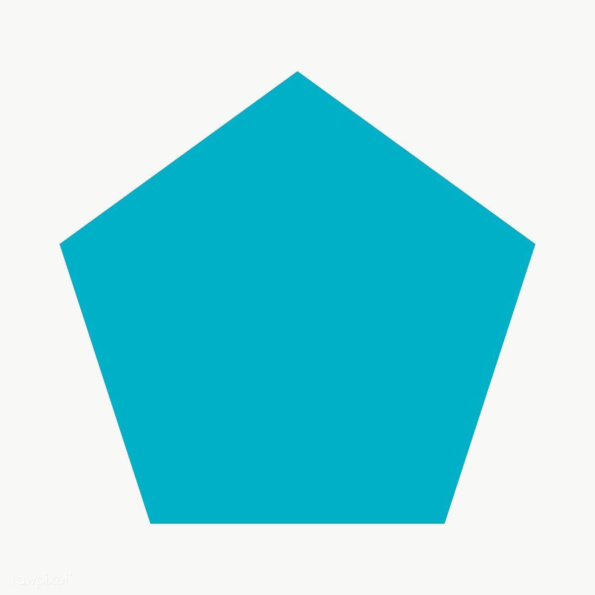 Blue Pentagon Geometric Shape Transparent Png Free Image By Rawpixel Com Ningzk V Geometric Shapes Printable Designs Geometric