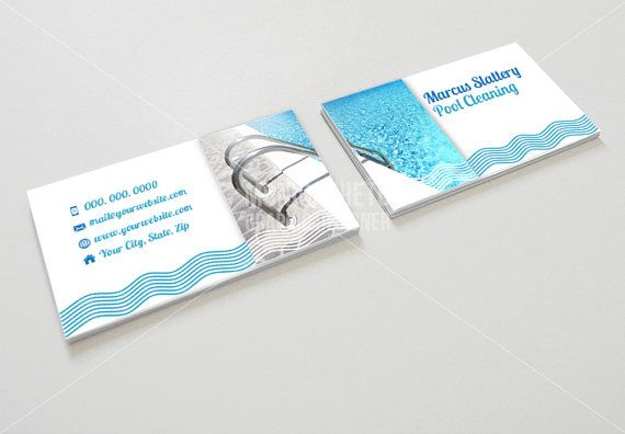 Custom Printable Pool Cleaning Business Card Template   Business     Custom Printable Pool Cleaning Business Card Template