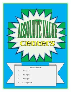 Absolute Value Centers Absolute Value Absolute Value Equations Secondary Math