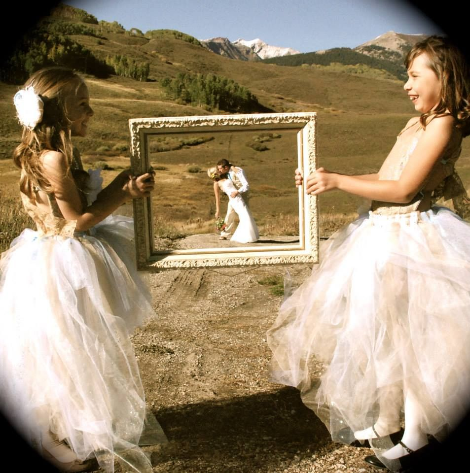 Framed- bride and groom. Mountain Wedding Garden, Mount Crested ...
