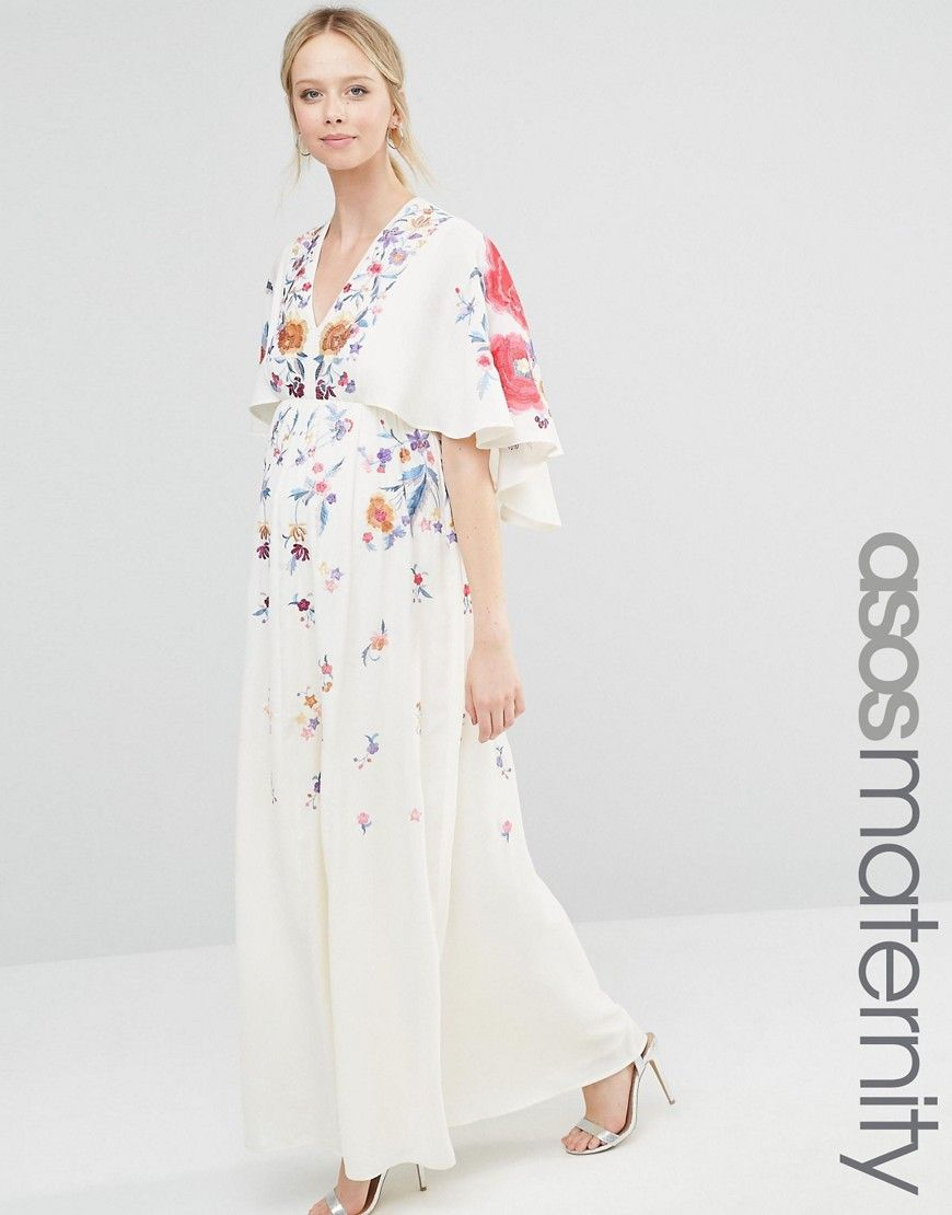 d32771dab2330 ASOS+Maternity+Kimono+Maxi+Dress+With+Embroidery | Pregos/Nursing ...