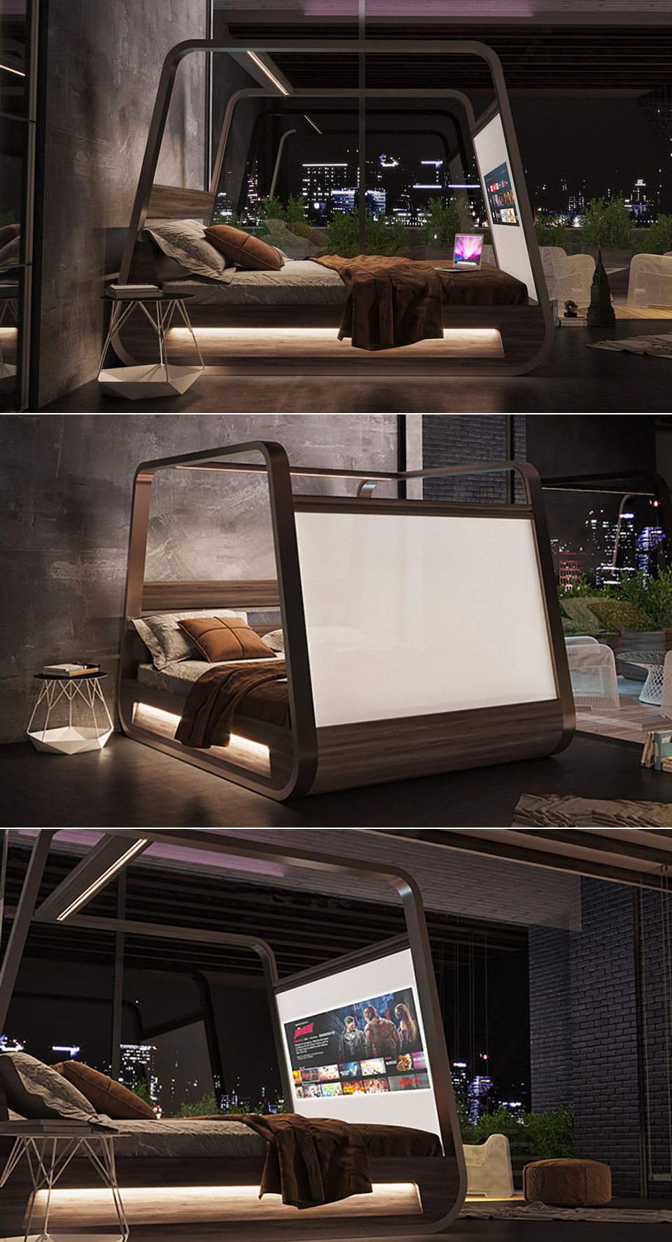 HighTech Bed Makes it Easy to Watch Movies and Surf the