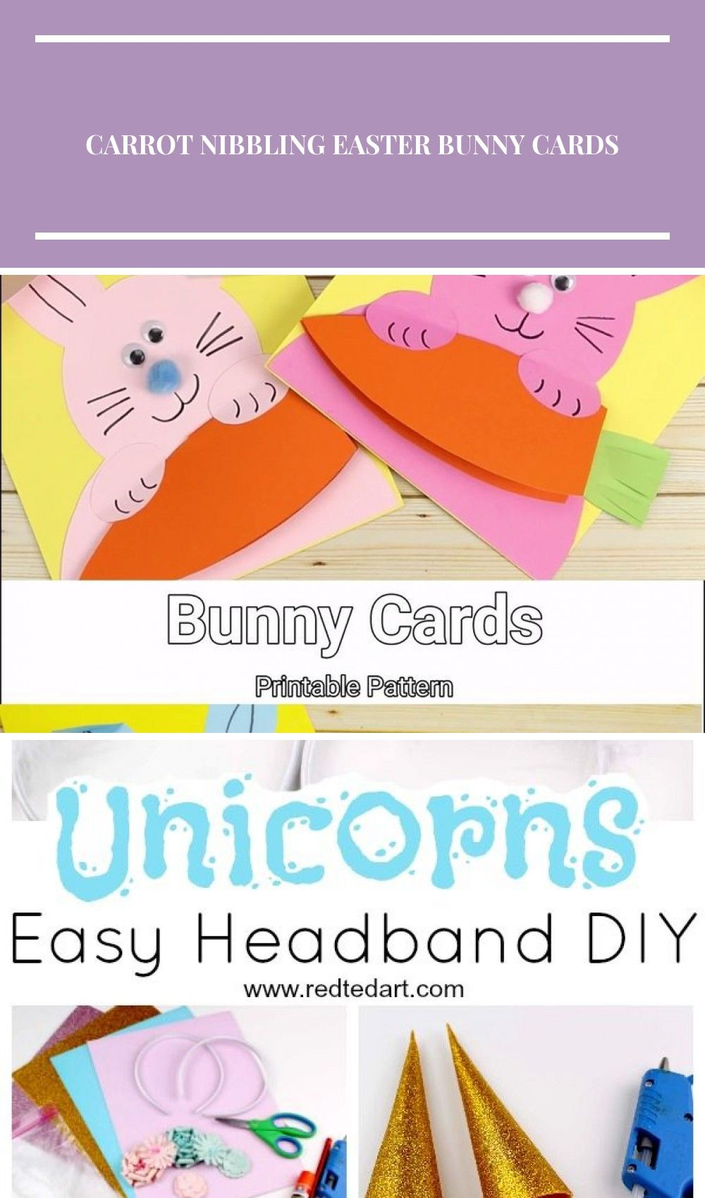 Carrot Nibbling Easter Bunny Cards Template Kids Craft Room – Cute32