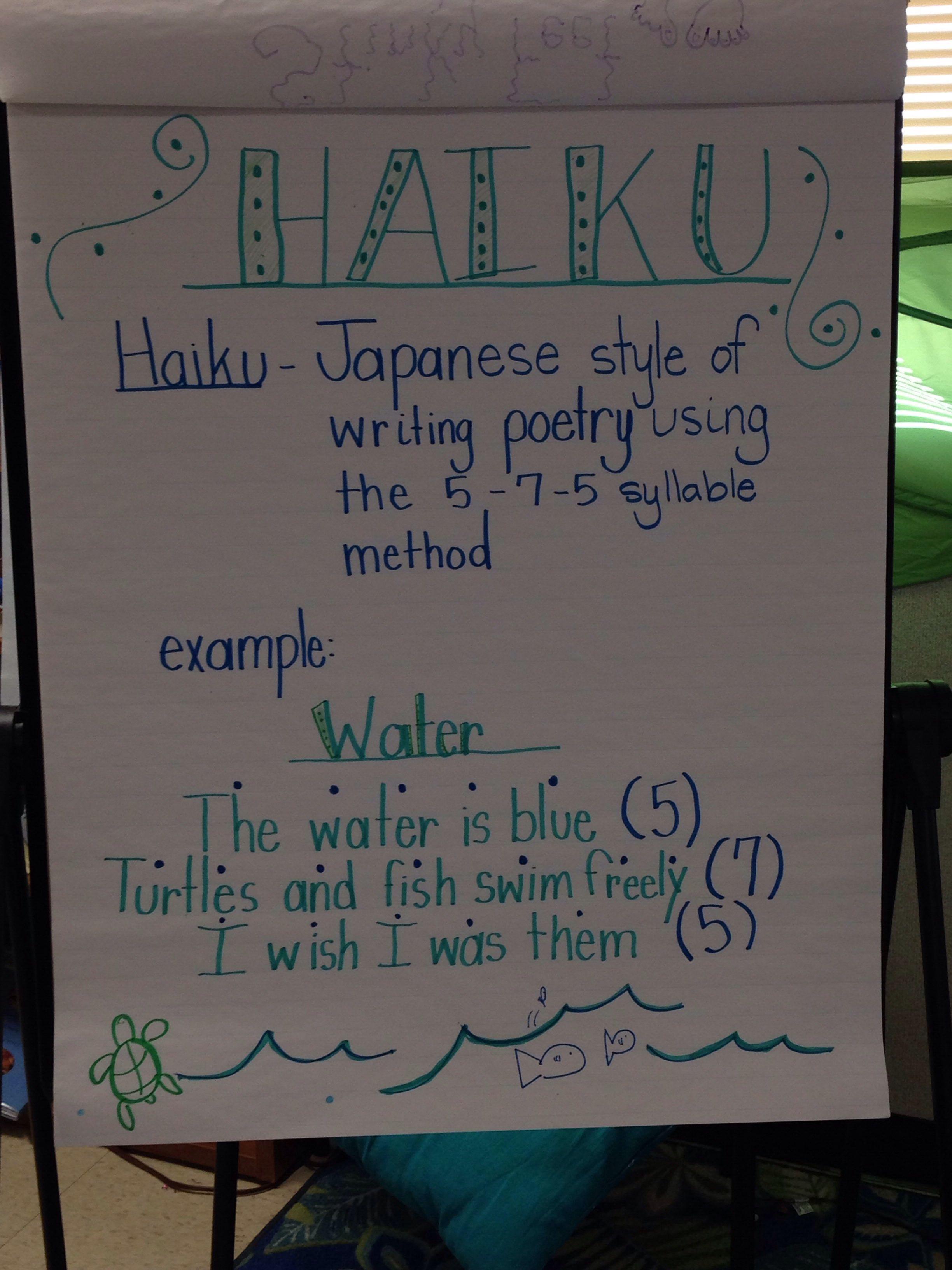 Haiku Anchor Chart
