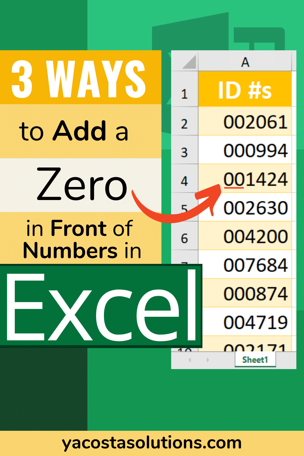 20 Ways to Add a Zero in Front of Numbers Excel + video tutorial ...