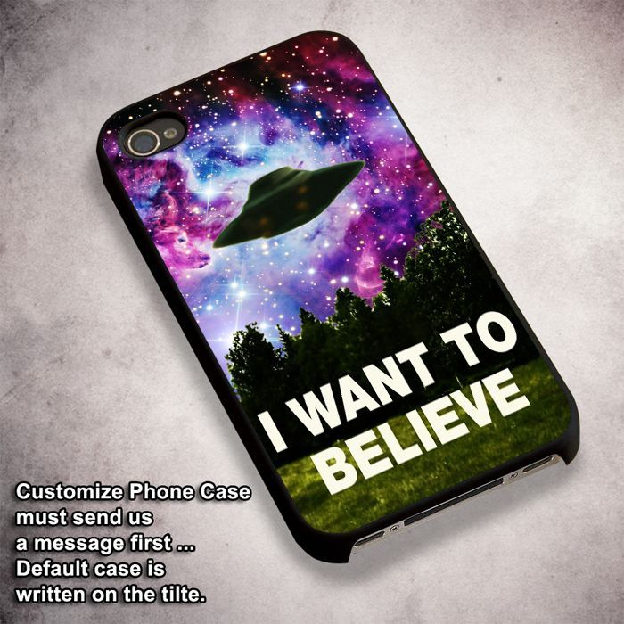 I Want To Believe X-Files - For iPhone 4/ 4S/ 5/ 5S/ 5SE/ 5C/ 6/ 6S/ 6 PLUS/ 6S PLUS/ 7/ 7 PLUS Case And Samsung Galaxy Case