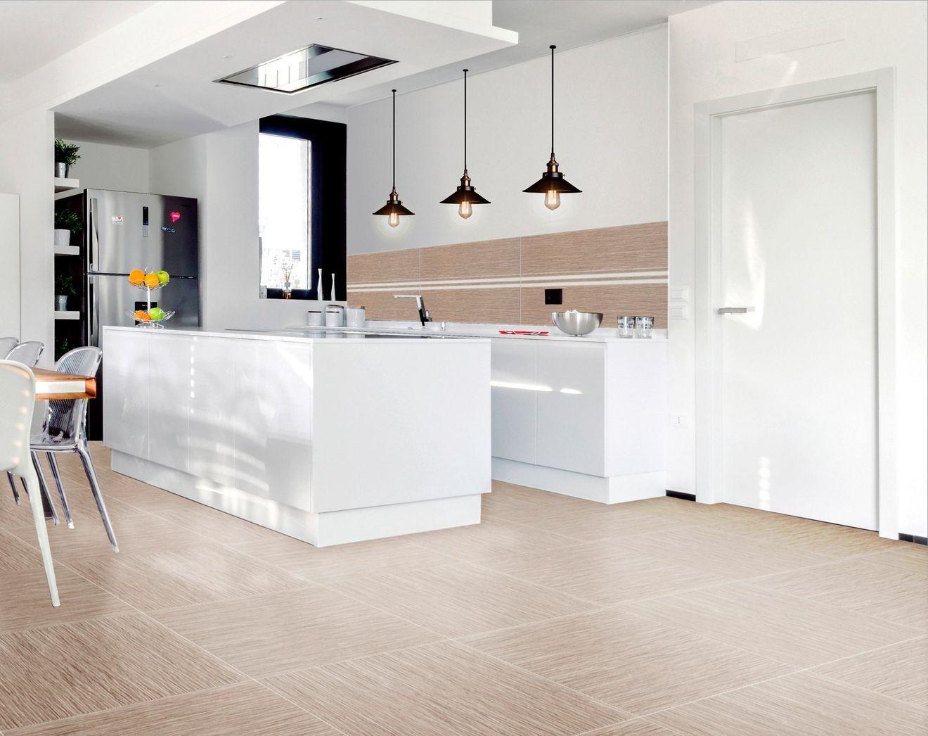 Revêtement sol cuisine : 19 modèles de sol pour une ...