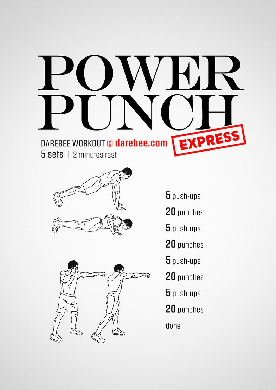 Power Punch Express Workout Posted By Advancedweightlosstips Com Boxing Training Workout Fighter Workout Martial Arts Workout
