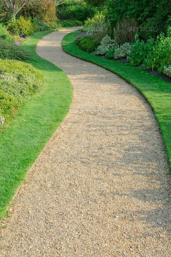 Gravel path shade garden garden ideas gravel path - How to make a garden path with gravel ...