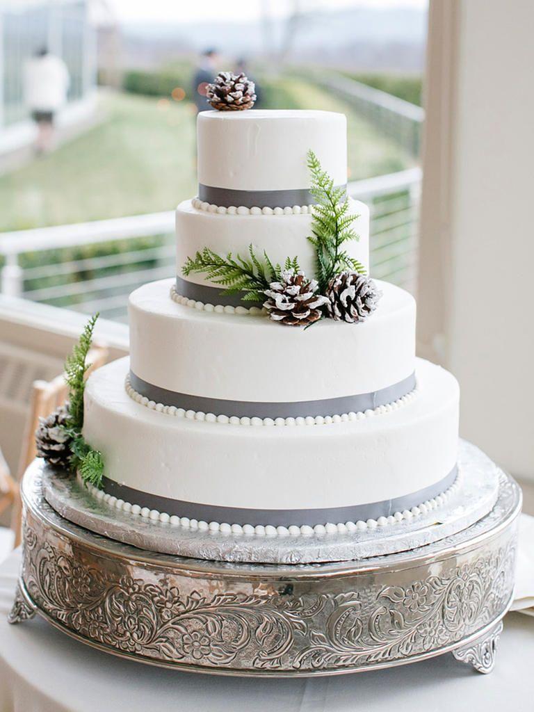 20 Gorgeous Frosty Winter Wedding Cakes Winter Wedding Cake