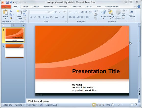 Powerpoint Template For Social Business Presentations