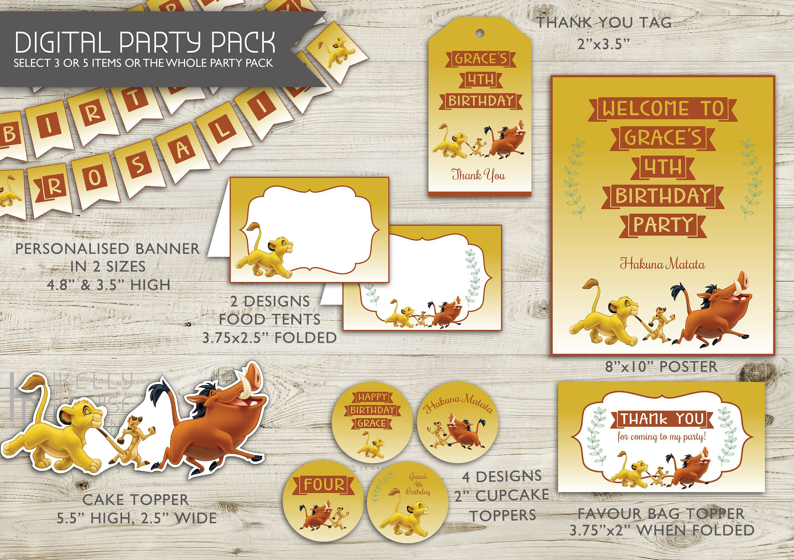 Lion King Birthday Party Pack