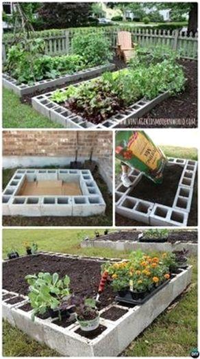 #DIY Cinder Block Raised Garden Bed 20 DIY Raised Garden Bed Ideas  Instructions.