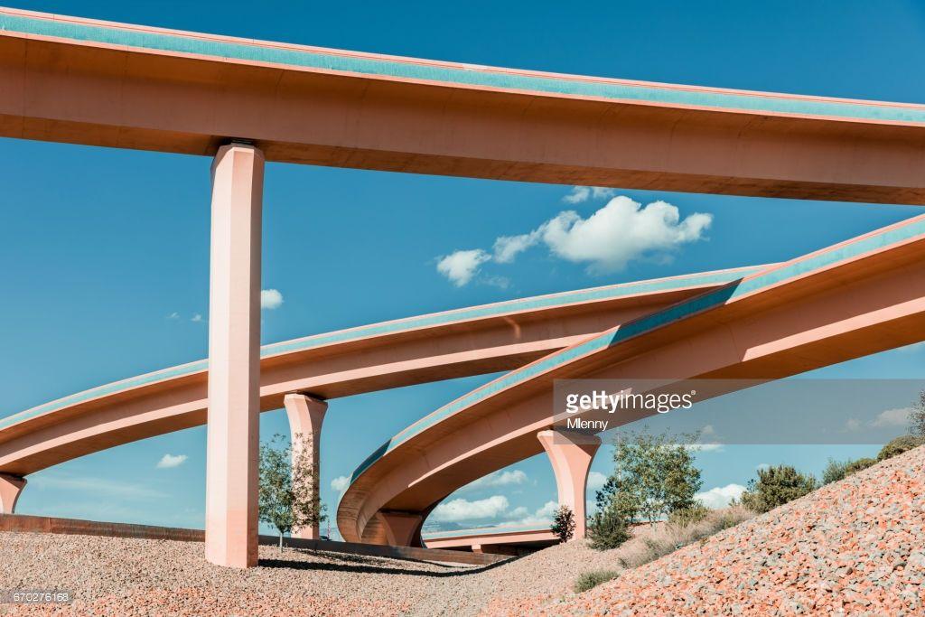 Albuquerque Freeway Stack Interchange Big I Complex Highway Edited New Mexico Albuquerque New Mexico Albuquerque