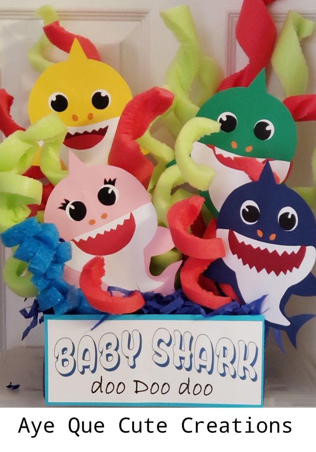 """Baby Shark Birthday Centerpiece"" Aye Que Cute Creations"