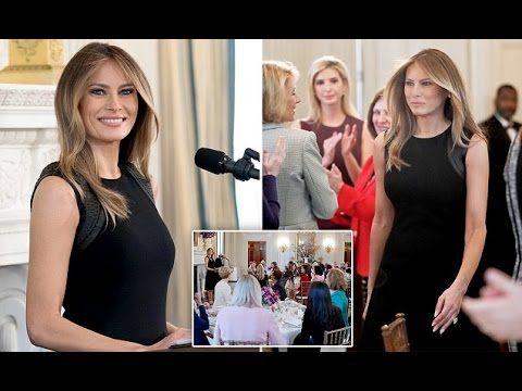 Melania Trump hosts an International Women's Day lunch