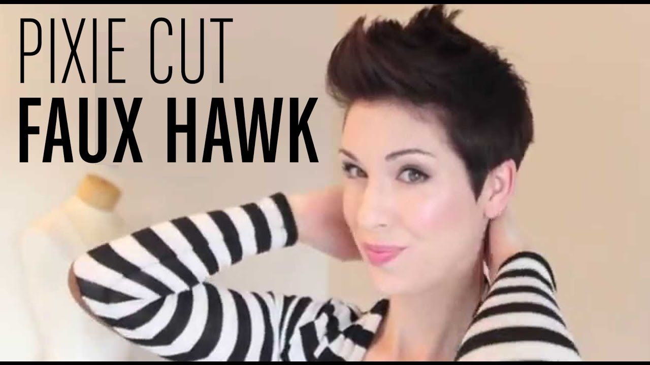 How to style a faux hawk on pixie hair youtube pixie cut short