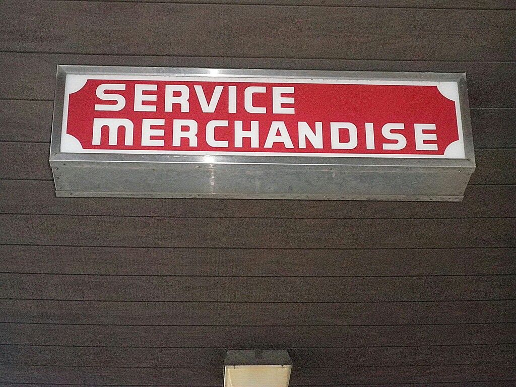 A service merchandise store sign store signs signs